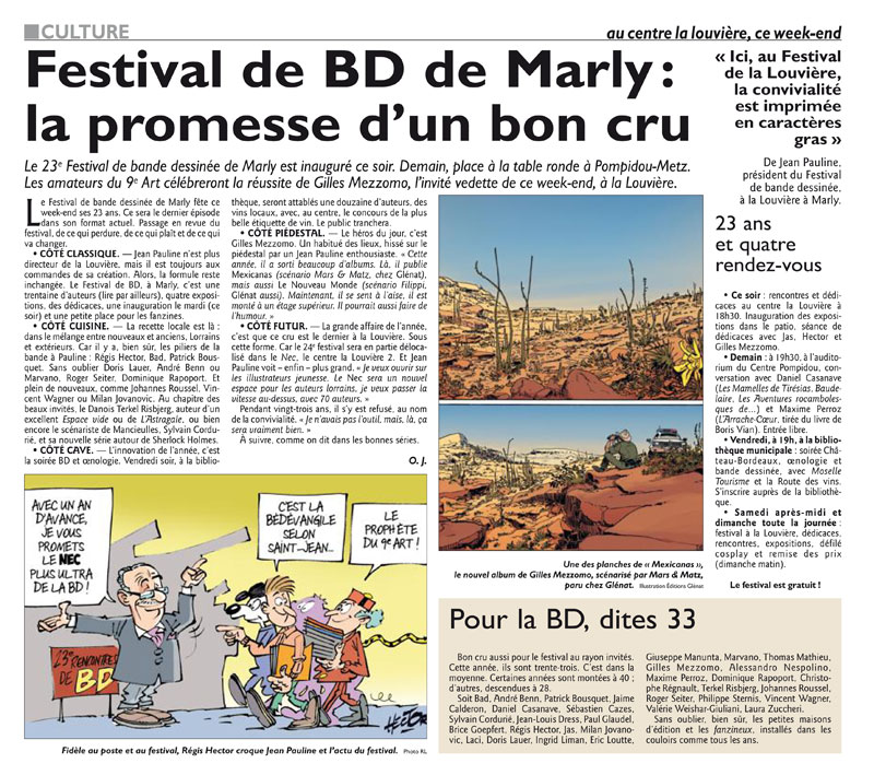 Rencontres bd marly 2013